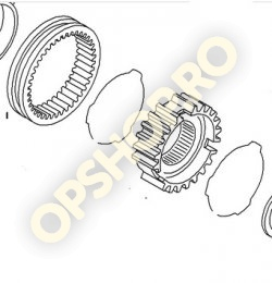 Piese Opel ANSAMBLU ROATA ANGRENARE CU CRABOTI VITEZA 3+4 CUTIE VITEZE F15 VECTRA B