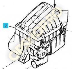 Piese Opel CAPAC CARCASA FILTRU AER OPEL CORSA B C12NZ X12SZ C14NZ X14SZ