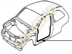 Piese Opel CHEDER USA FATA DR OPEL CORSA B 3USI GRI