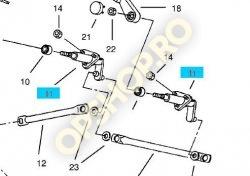 Piese Opel AX STANGA CU SUPORT MECANISM STERGATOARE FATA 97807524 GM 1274172 OPEL MONTEREY