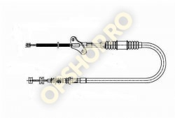 Piese Opel CABLU FRANA FRONTERA A  4USI DR