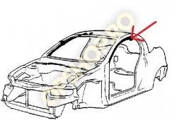 Piese Opel CHEDER SUPERIOR CONTUR PLAFON USA STG TIGRA A