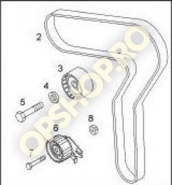 Piese Opel SET DISTRIBUTIE OPEL ASTRA H VECTRA C ZAFIRA B Z19DTH Z19DTJ ORIGINAL GM